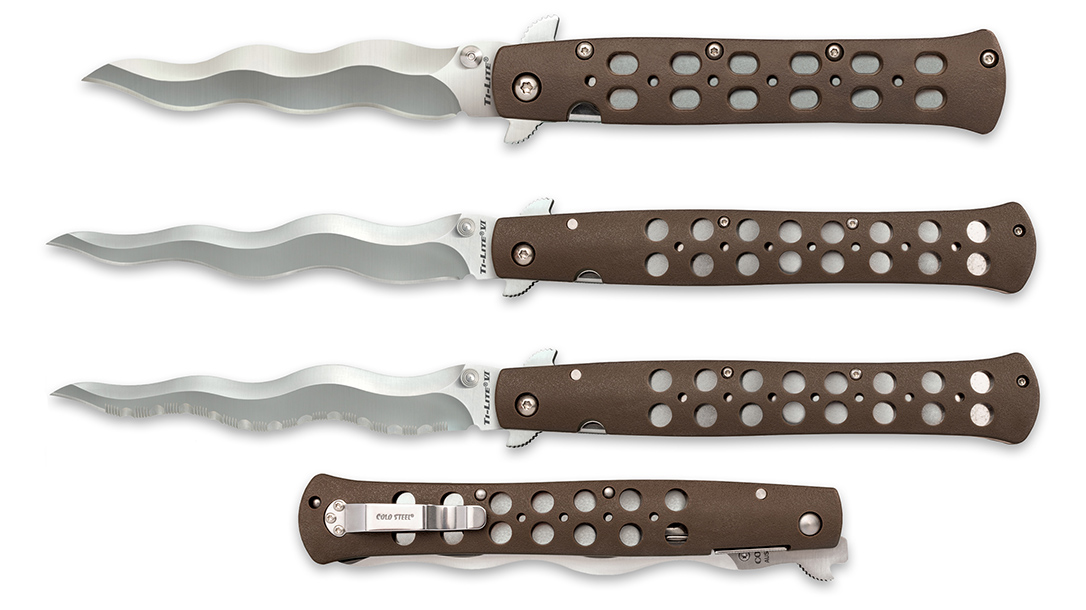 The Cold Steel Kris Ti-Lite switchblade brings a classic design.