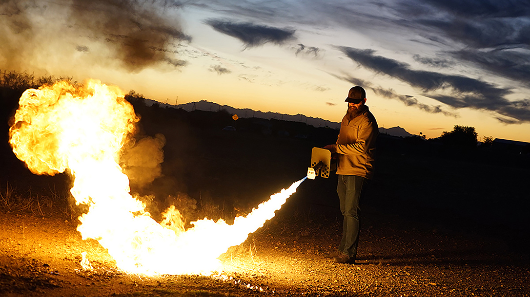 The Exothermic Pulsefire flame thrower packs serious punch.