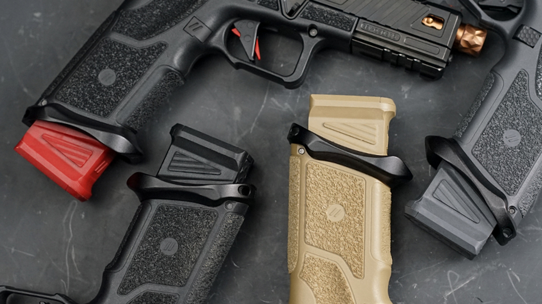 Zev Technologies polymer basepads add 5 9mm or 4 .40 S&W rounds to Glock mags.