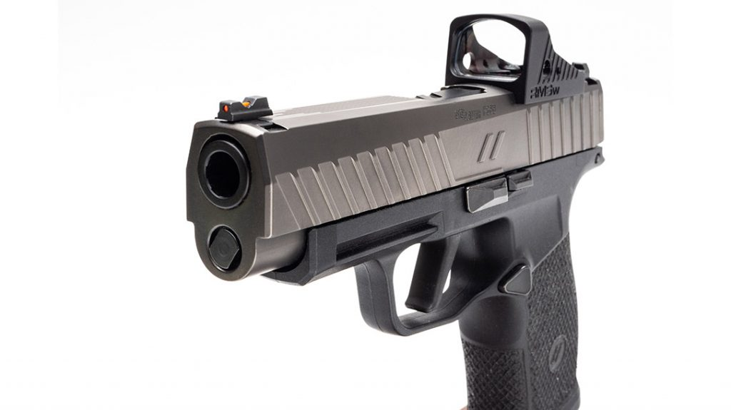 The small frame of the custom Sig P365XL is perfect for daily carry.