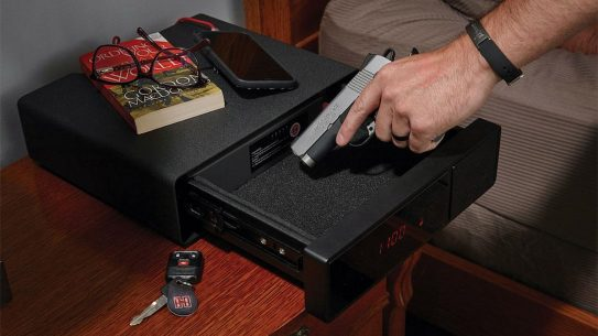 The Hornady Security RAPiD Safe night Guard keeps your firearm where you need it most in an emergency.