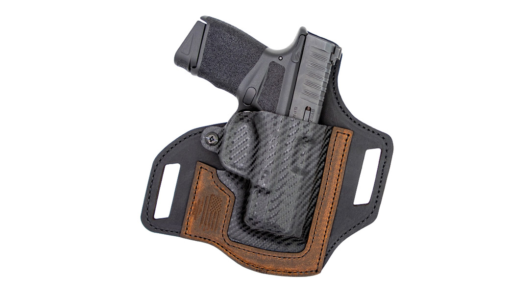The Versacarry Rebel Optics Compatible Springfield Hellcat and Sig P365 OWB Holster