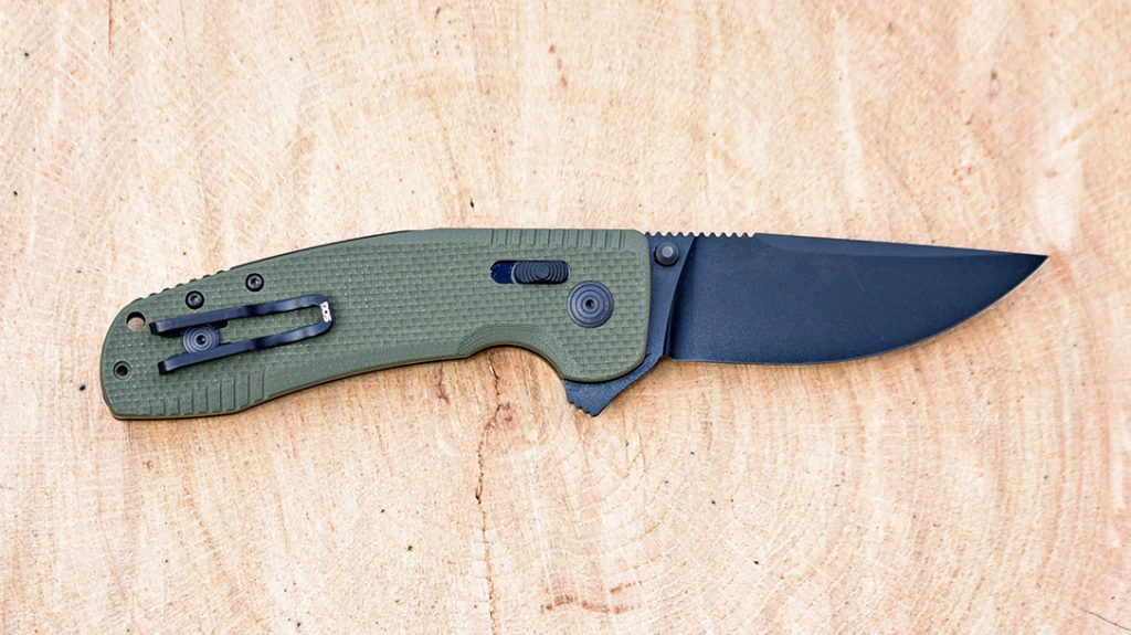 The TAC XR is a budget-friendly option that would fit perfectly into any pocket. SOG reinforced this model with a full steel inner skeleton for added strength.
