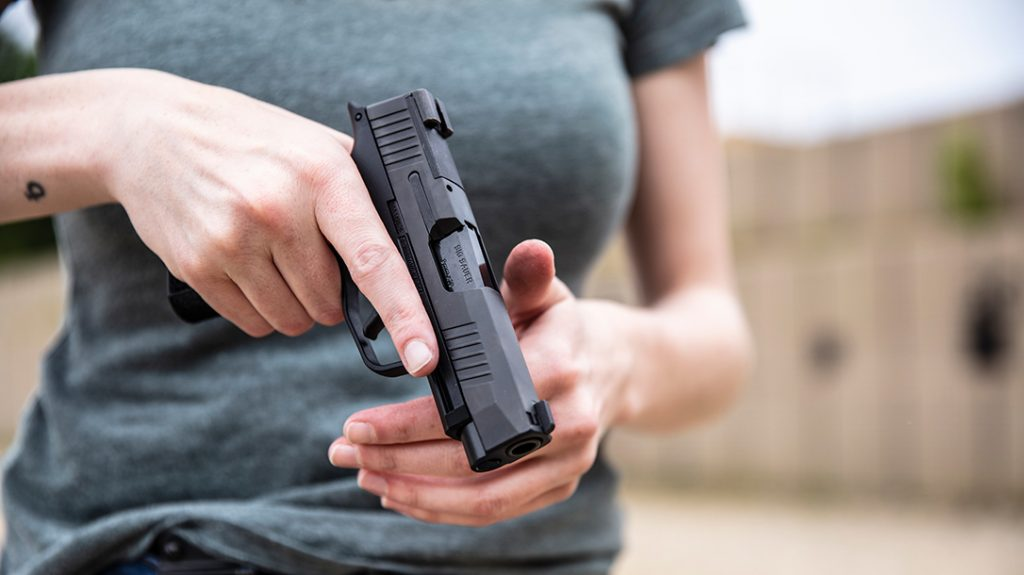 The Sig Sauer P365 XL holds 13 rounds of 9mm and offers a balance of micro-compact concealability and full-size shootability. It's also red-dot sight (RDS) ready, which is perfect for surviving civil unrest.