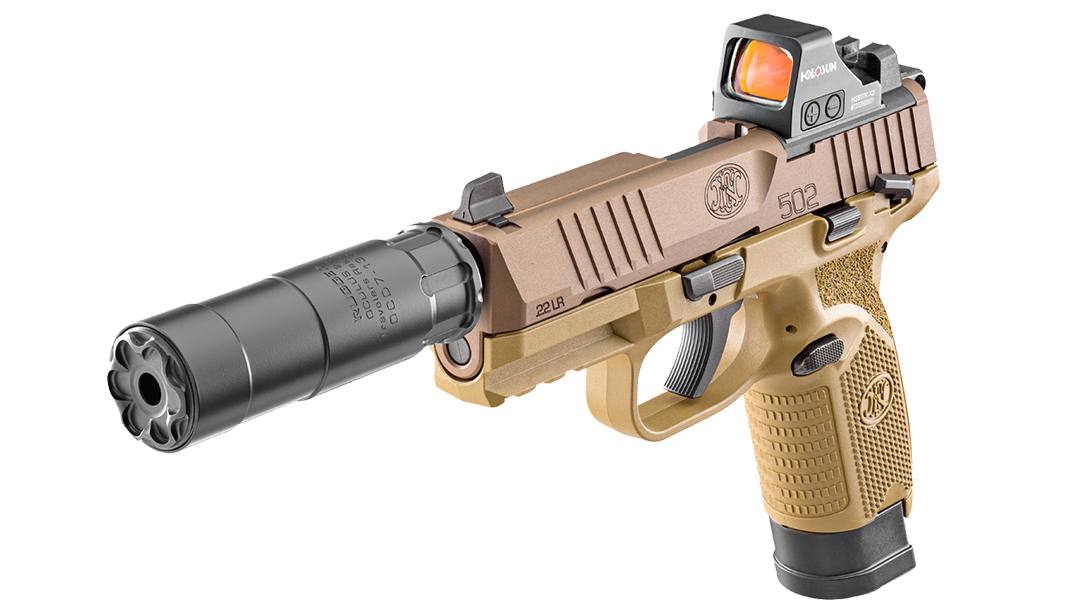 The FN 502 Tactical comes optics-ready in .22 LR./