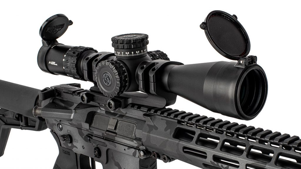 The Primary Arms GLX 2.5-10X44 FFP rifle sight.