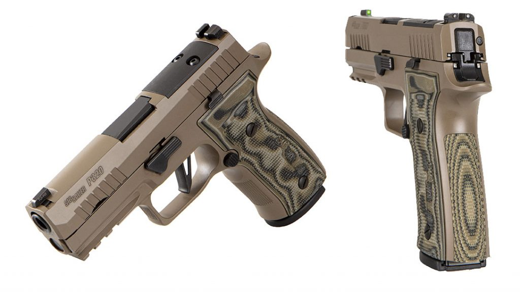 The Sig Sauer P320 AXG Scorpion is equally at home on the range or concealed carry.