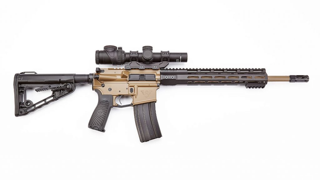The Wilson Combat defense carbine is chambered in .300 HAM'R.