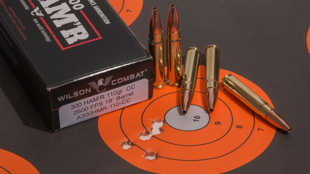 We were able to achieve a tight group with the Wilson Combat home defense carbine.