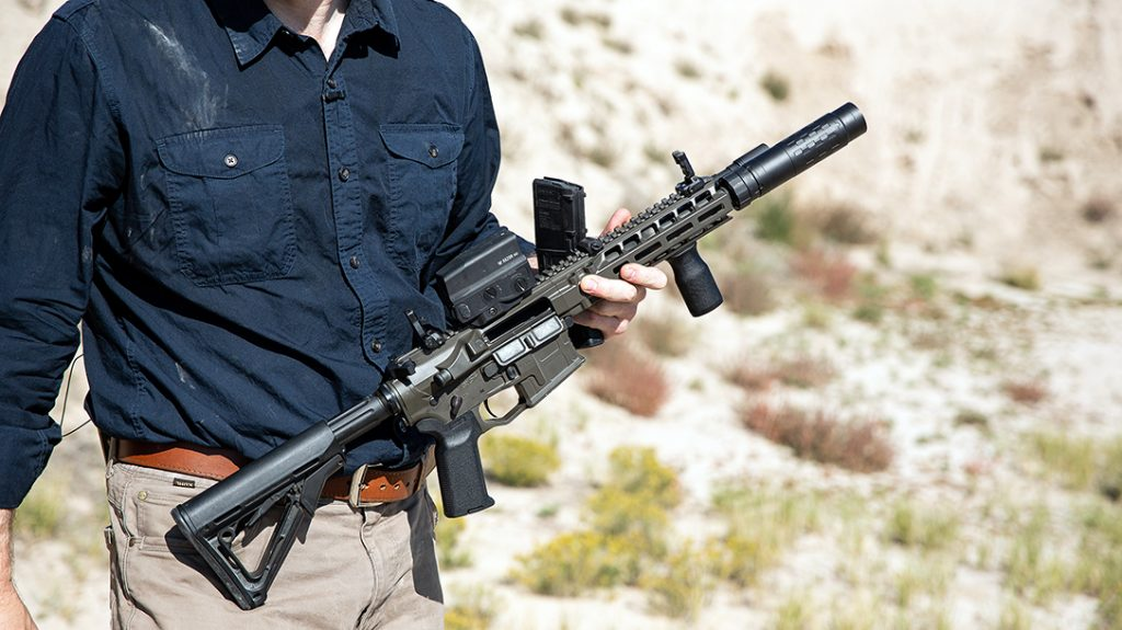 The system enables one suppressor to fit an entire stable of guns, in different configurations.