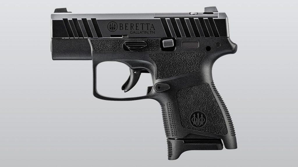 The Beretta APX A1 Carry in standard black.