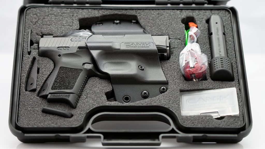 While it's carryability and accuracy are exemplary, having two mags, a holster and a spare backstrap in the box with the gun make the $440 MSRP an even better deal.