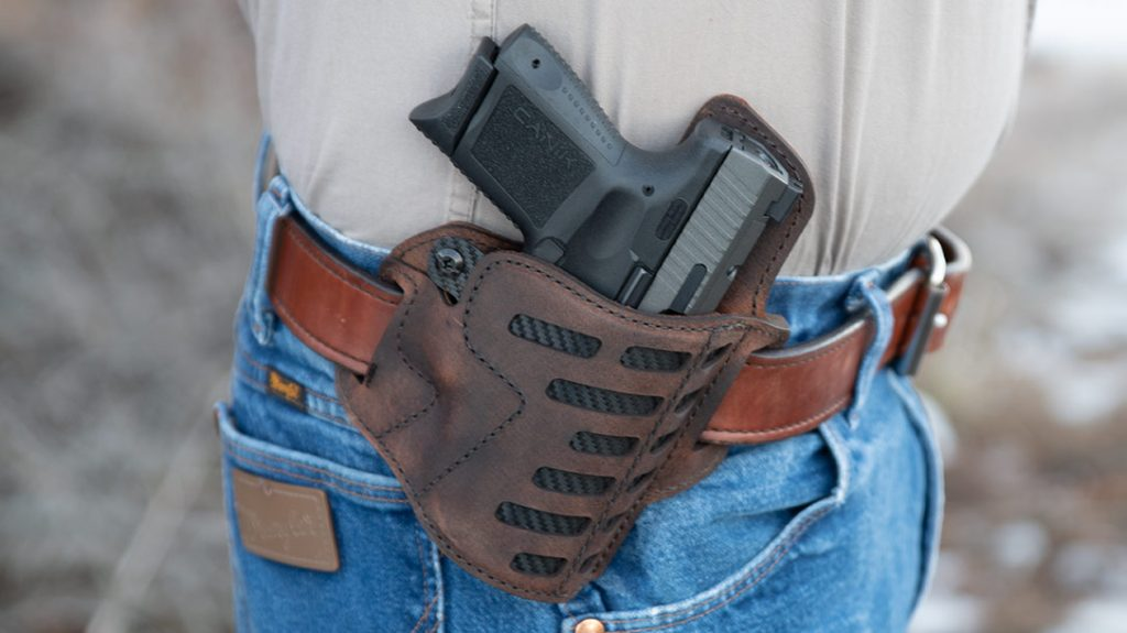 If you want to step it up and go fancy, we would suggest the truly unique VersaCarry Compound Series Holster.