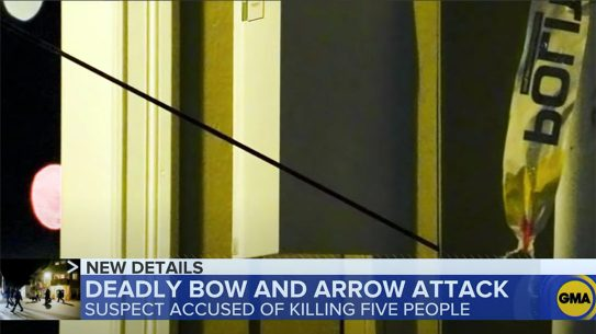 Man Kills 5 and Injures 2 with Bow and Arrow in Gun-Controlled Norway.