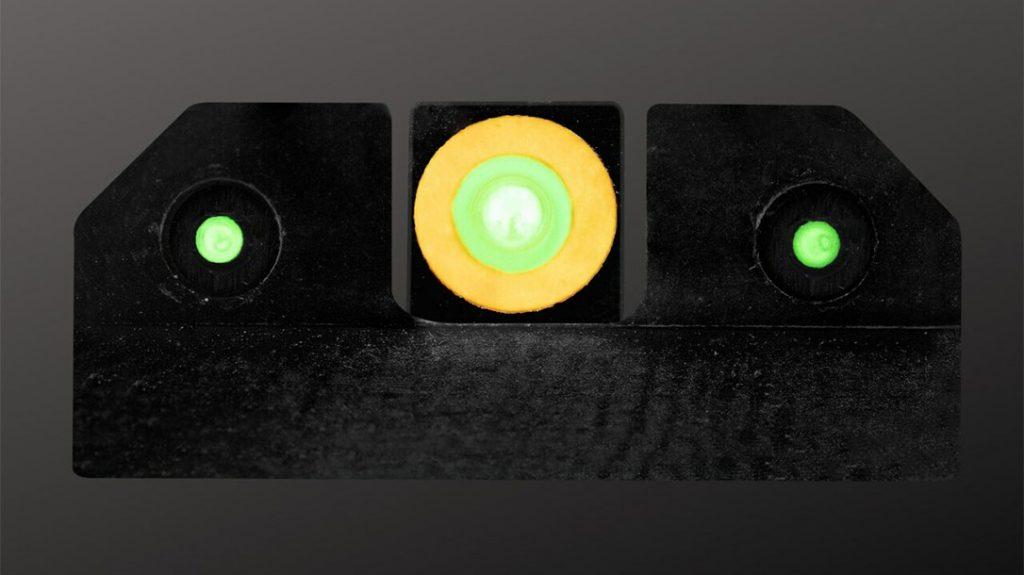 The XS Sights Springfield Hellcat OSP R3D Night Sights.
